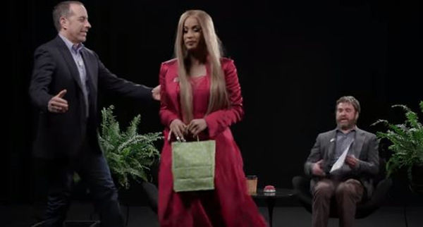 """Cardi B Curves Jerry Seinfeld On """"Between Two Ferns"""""""
