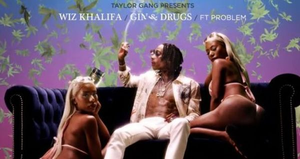 "Wiz Khalifa Mixes ""Gin & Drugs"" With Problem"