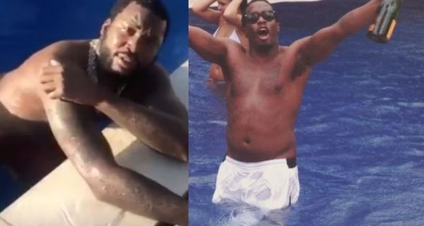 "Diddy Called Meek Mill ""Daddy"" While He Was Swimming & Social Media Went In"