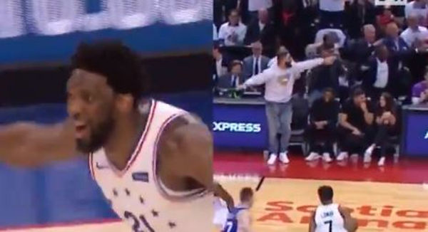 Drake Taunts Joel Embiid During Raptors Blowout of Sixers