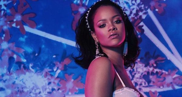 Rihanna Strips Down To Lace Lingerie (Pics)