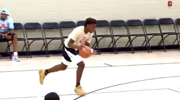 LeBron's 14 Year Old Son Bronny James Throws Down Windmill Dunk
