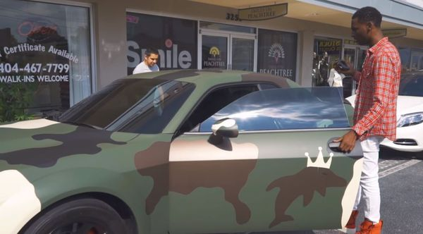 Young Dolph Accuses Dodge Of Stealing His Camo Challenger SRT Hellcat Design
