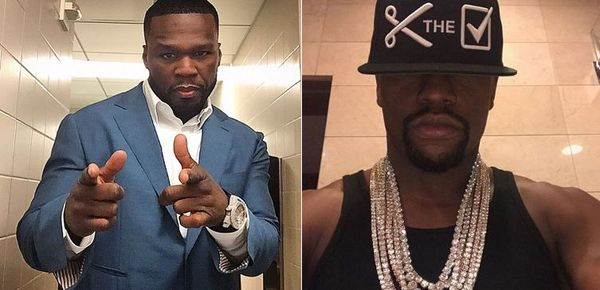 "50 Cent Mocks Floyd Mayweather's ""Granny Drip"""