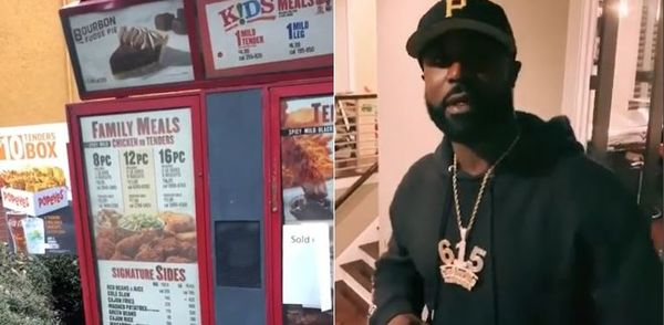Watch Young Buck Fight For Popeyes Chicken Sandwich; Won't Leave Drive-Thru