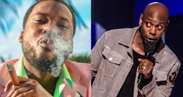 Meek Mill Sparks A Joint While Standing Behind Dave Chappelle