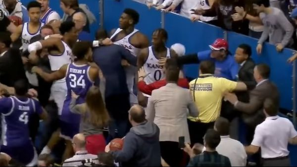 Watch Kansas and Kansas State Get Into Nasty Brawl At End of Game