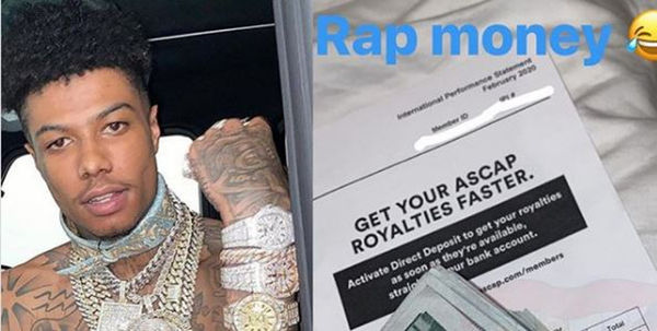 Blueface Flexes Royalty Check