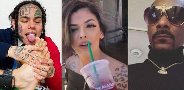 Tekashi 6ix9ine Brings Snoop Dogg's Wife Into their Beef; Celina Powell Video Leaks