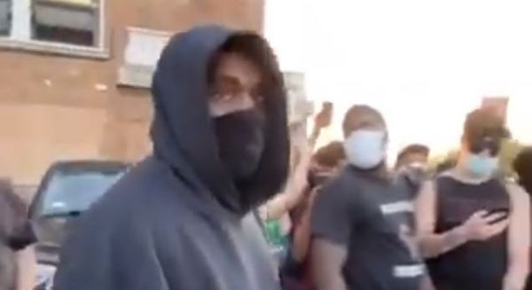 Kanye West Seen at George Floyd Protest In Chicago