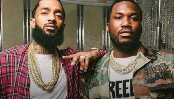 Meek Mill Stunts Timely Text Message From Nipsey Hussle
