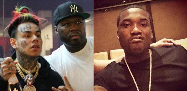 Meek Mill & Tekashi 6ix9ine Both React to 50 Cent Ethering Meek For Hypocrisy