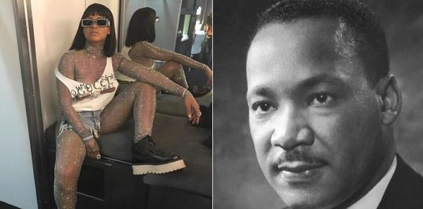 "Rihanna Getting Some Heat For ""Hood"" Martin Luther King Image"