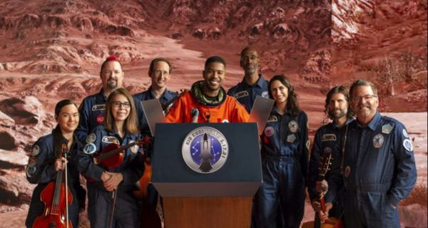"""Kid Cudi Performing """"Man On The Moon III"""" With International Space Orchestra"""