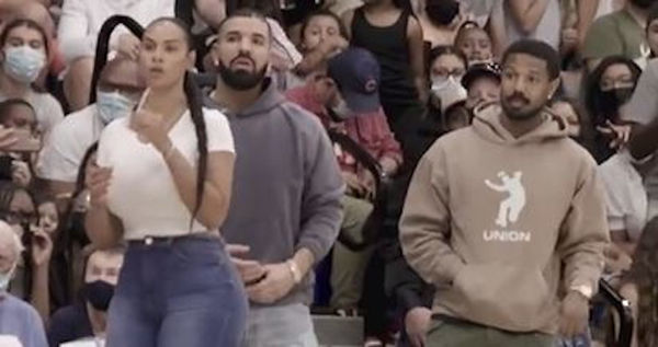 Twitter Thinks Drake Was Hitting On Bronny James's Teammate's Mom During Game