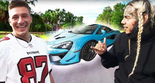 Tekashi 6ix9ine Gifts Youtuber SteveWillDoIt A Rare Car