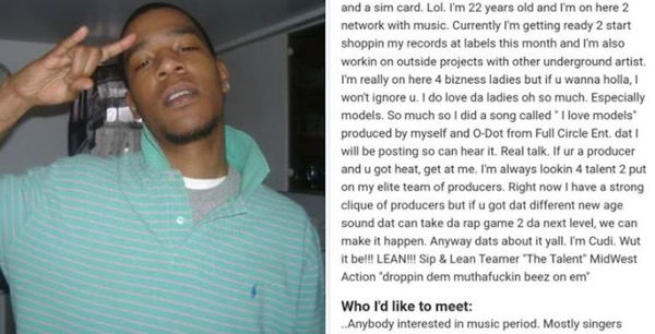 Kid Cudi Brags About Doing Everything On His MySpace Profile