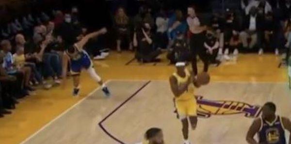 Kid Cudi Says He Didn't Make Steph Curry Slip During Warriors Lakes Game